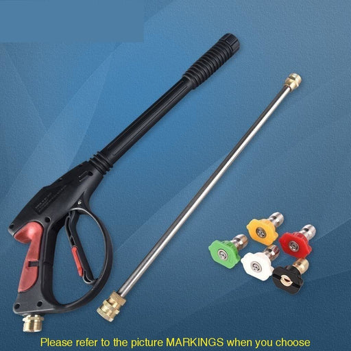 4000 PSI Spray Gun High Pressure Washer Gun With 19'' Extension Wand 4 Quick Connect Nozzles 1 soap Nozzle for Car Home Washer