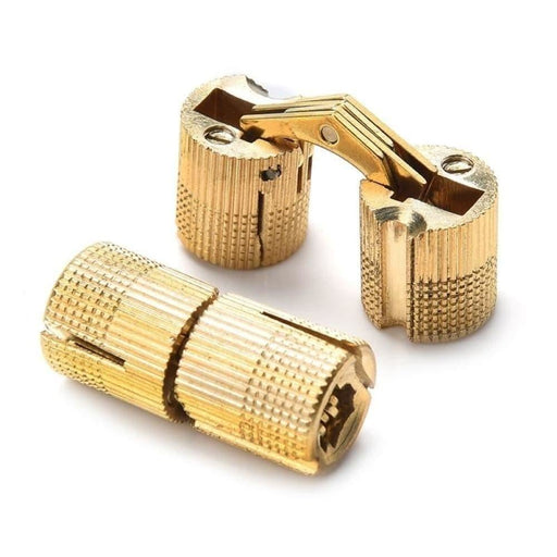 4PCS NAIERDI Copper Brass Furniture Hinges 8-18mm Cylindrical Hidden Cabinet Concealed Invisible Door Box Hinges For Hardware