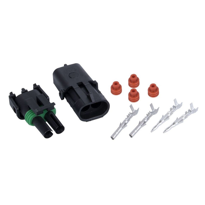 4x Kits 1.5mm 2way Waterproof Auto Electrical Plug Connector