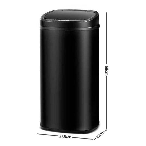 58L Motion Sensor Rubbish Bin - Black goslash fast delivery fast delivery