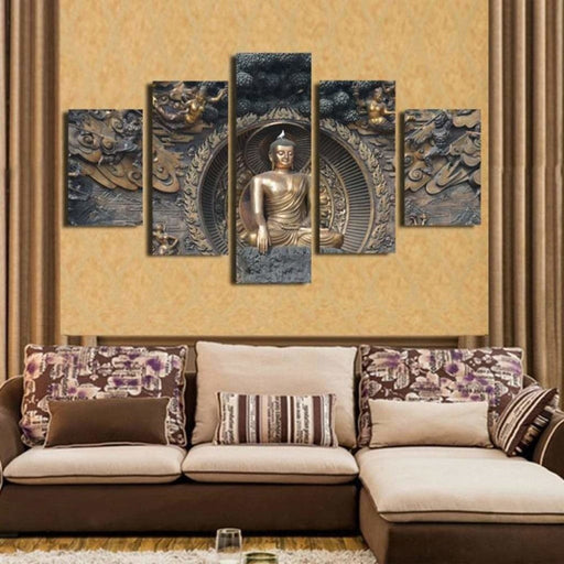 5PCS Modern Canvas Pictures Wall Art Decor Paintings Posters Statue