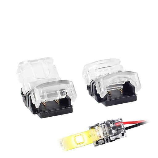 5PCS Quick Connector 2pin 10mm Connector for LED Strip 5050 5630 5730 to Wire Cable Connectotion Terminals No Screw No Soldering