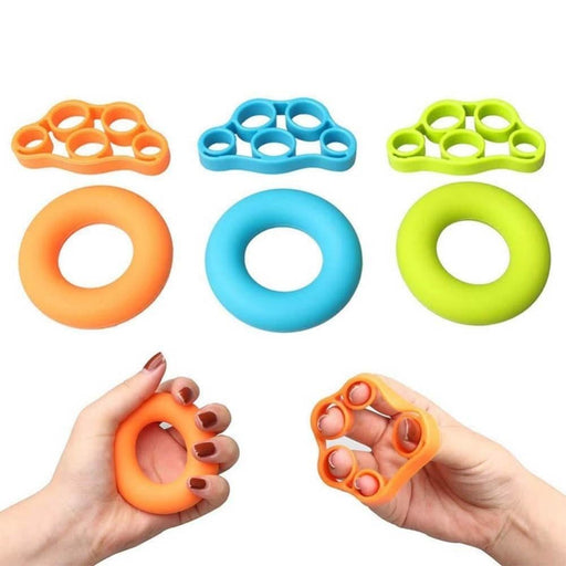 Multi-function Silicone O-ring Hand Grip Gripper Finger Stretcher User-friendly Fitness Exercise Equipment 7.5x4x1.3cm Hot Sale