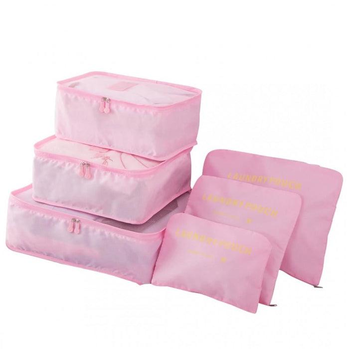 E6874 - Miss Lulu 6 Piece Polyester Travel Luggage Organiser
