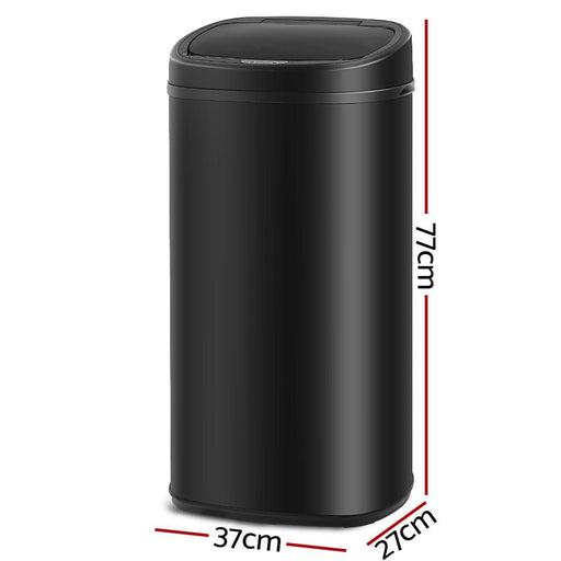 68l Motion Sensor Rubbish Bin - Black - Home & Garden >