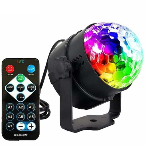ALIEN 6W 7 Color RGB Remote LED Crystal Magic Ball DJ Disco Stage Lighting Effect Party Holiday Christmas Birthday Music Lamp