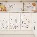 77*56cm Lovely Cats Kitchen Decoration Cartoon Black Cat