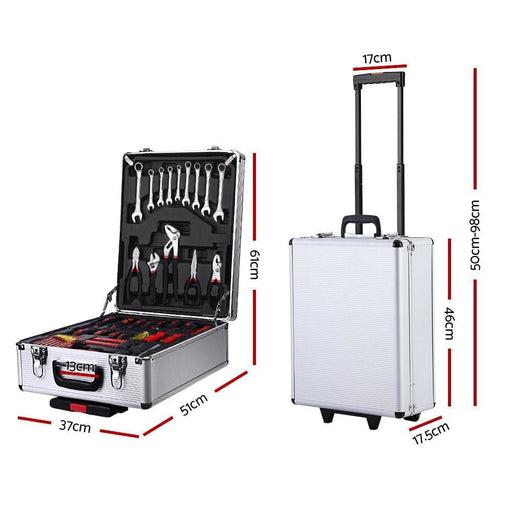 786pcs Tool Kit Trolley Case Mechanics Box Toolbox Portable