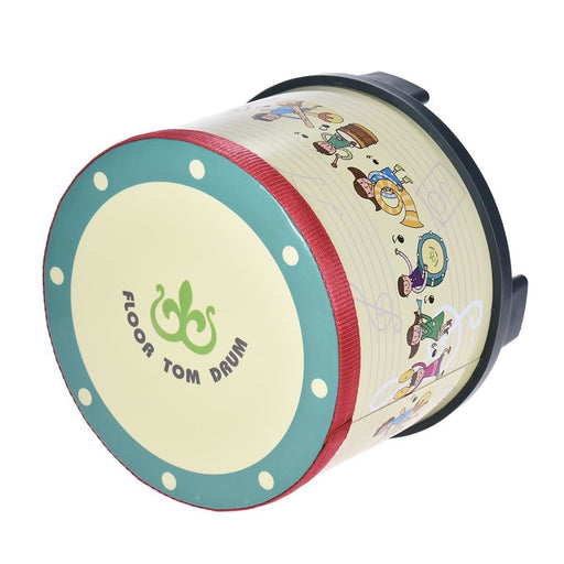 8 Inch Wooden Floor Drum Gathering Club Carnival Percussion Instrument Early Learning Musical Drum Toy for Kids Children