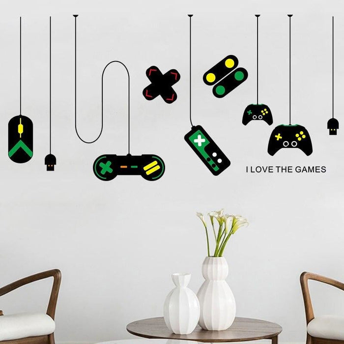 80*140cm Game Machine Wall Stickers Game Handle DIY Wall Art