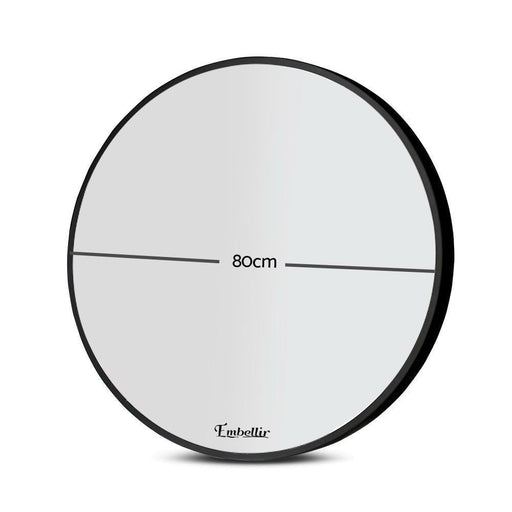 Embellir 80cm Frameless Round Wall Mirror goslash fast delivery fast delivery