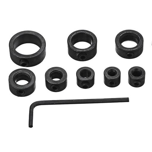 Drillpro 8pcs 3-16mm Drill Bit Shaft Depth Stop Collars Woodworking Drill Bit Limited Ring Collar