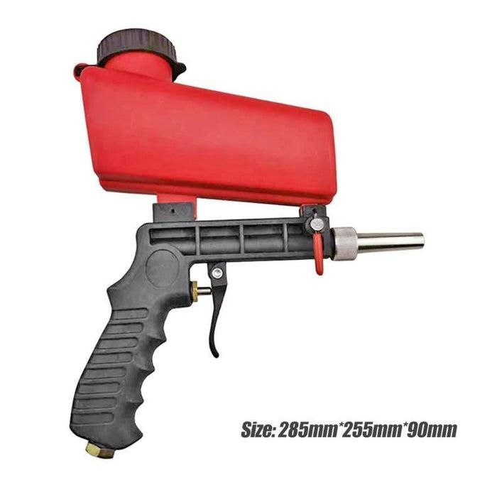 90psi Mini Aerodynamic Spray Gun Aluminium Handheld Gravity Pneumatic Sandblaster Gun 700cfm Lightweight Power Machine