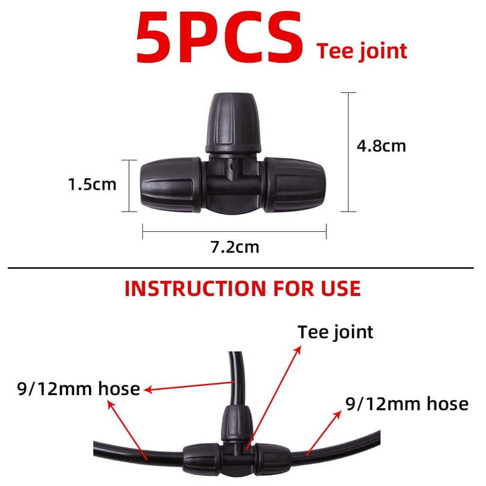 9/12mm 3 Way Agricultural PE Pipe Joints Water Splitter