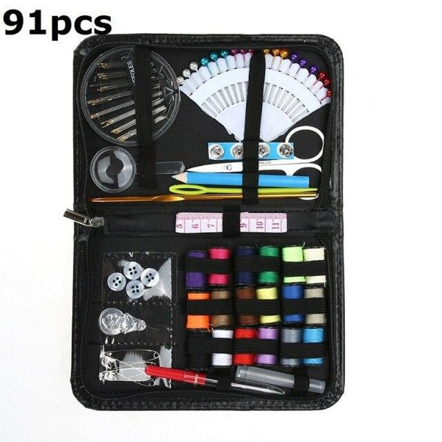 98pcs Multi-function Sewing Kit Sewing Needle Thread Cross Stitch Tools Embroidery Kits Travel DIY Household Sewing Accessories