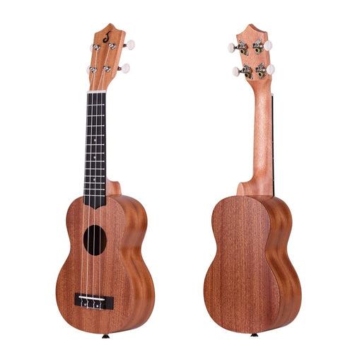 21 Inch Acoustic Soprano Ukulele Ukelele Uke Merbau Plywood Body Engineered Wood Fingerboard Bridge with Uke Kit