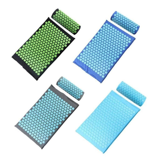 Acupressure Massager cushion Yoga Mat Relaxation Relief Stress Tension Body Relieve Body Stress Pain Spike Mat with Pillow