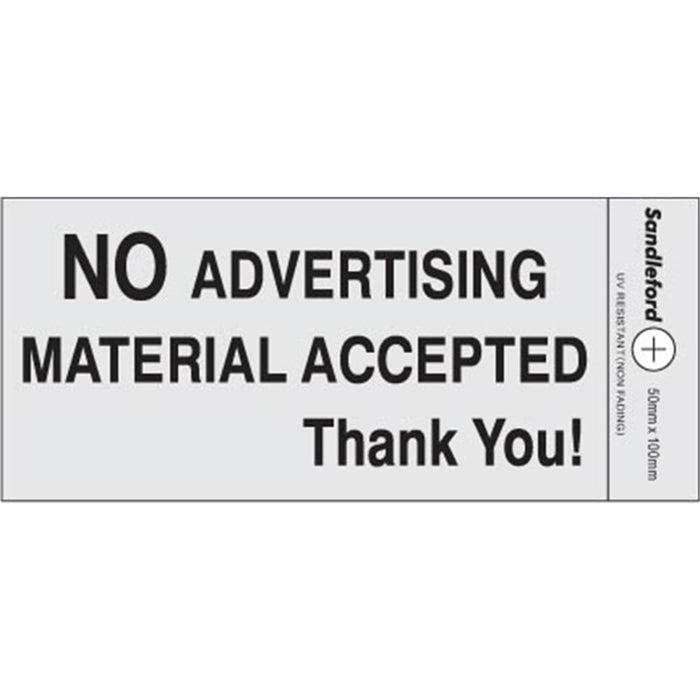 Self Adhesive No Advertising Silver Material Sign goslash fast delivery fast delivery