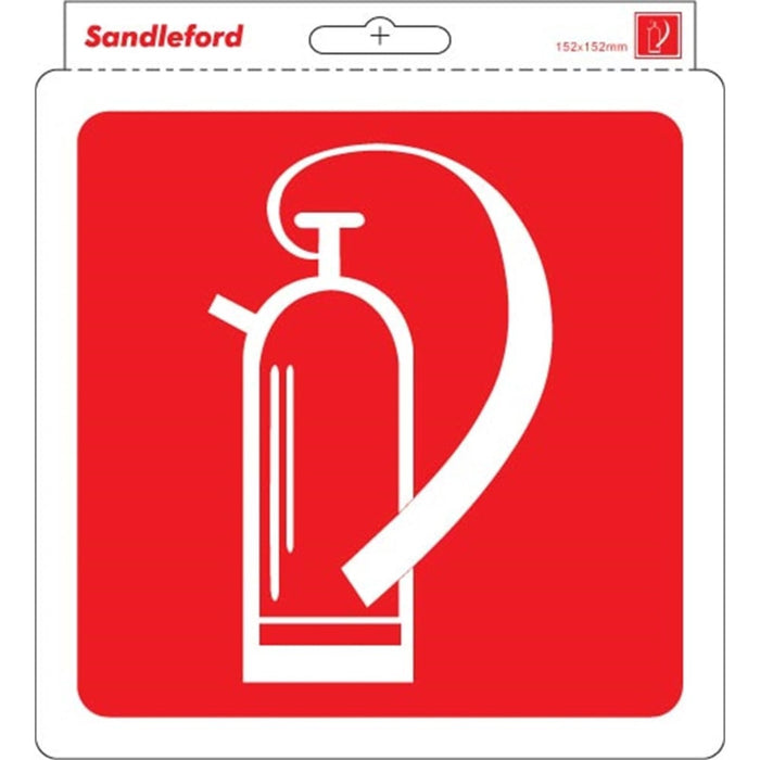 Self Adhesive 'Fire Extinguisher' Sign goslash fast delivery fast delivery
