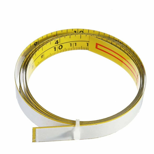Self Adhesive Inch and Metric Ruler Miter Track Tape Measure Steel Miter Saw Scale For T-track Router Table Band Saw Woodworking Tool