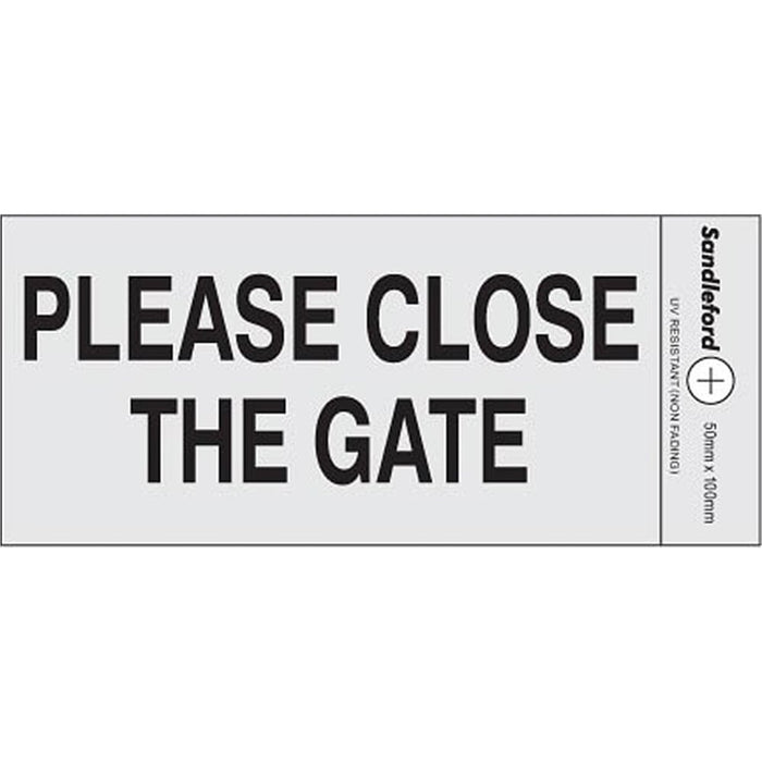 Self Adhesive 'Please Close The Gate' Sign goslash fast delivery fast delivery