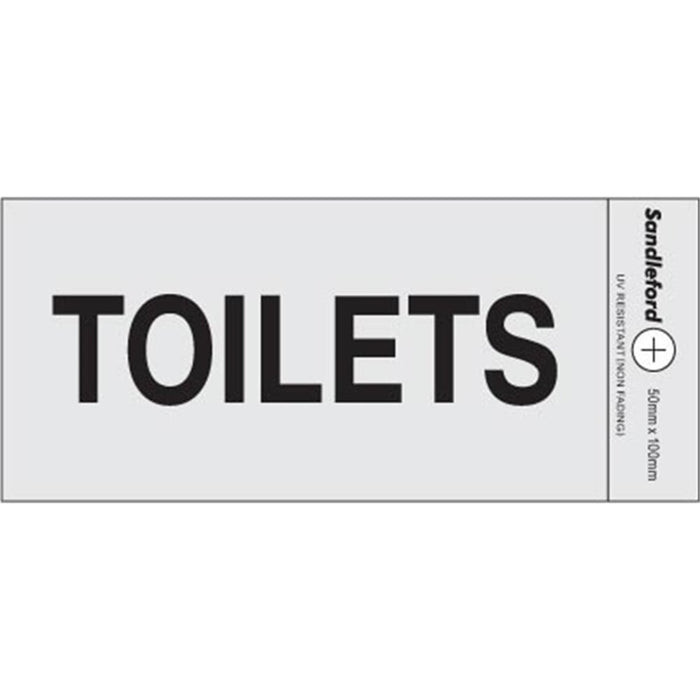 Self Adhesive Toilets Silver Sign goslash fast delivery fast delivery