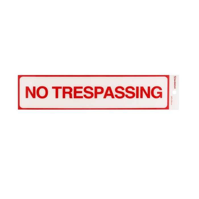 Self Adhesive No Trespassing Sign goslash fast delivery fast delivery