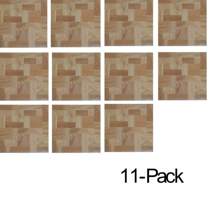 Self Adhesive Wood Clear Vinyl Tiles- 11pack goslash fast delivery fast delivery
