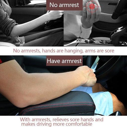 Adjustable Car Center Console Arm Rest Universal Car Armrest Box Elbow Support Auto Seat Gap Organizer Arm Rest Box Accessories