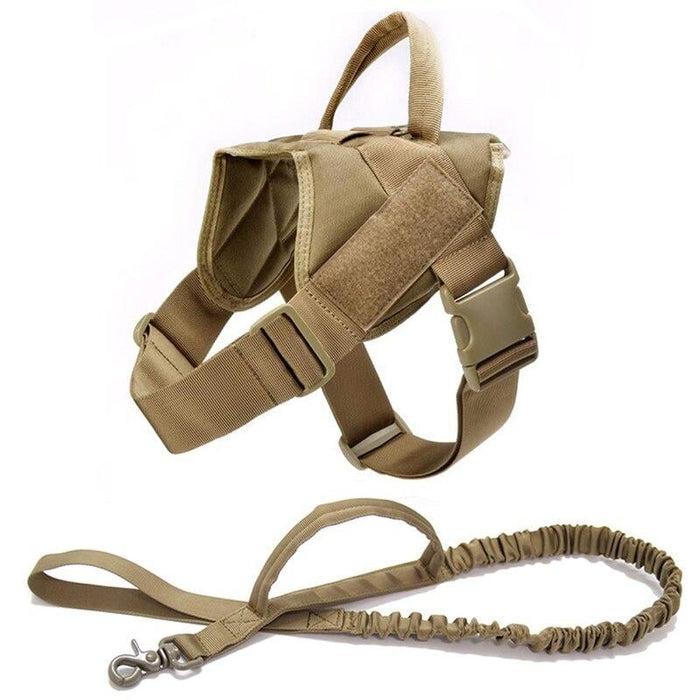 Adjustable K9 Walking Dog Harness Collar Vest Brown Harness