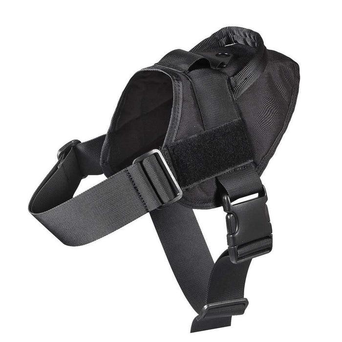 Adjustable K9 Walking Dog Harness Collar Vest Black Harness