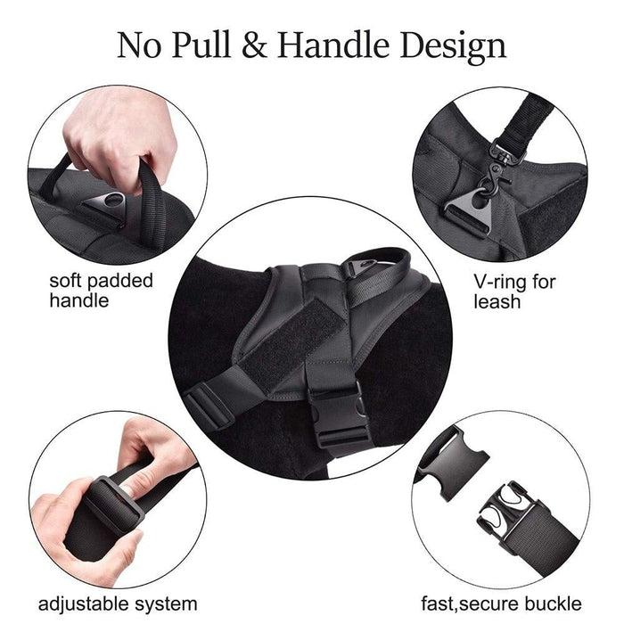 Adjustable K9 Walking Dog Harness Collar Vest