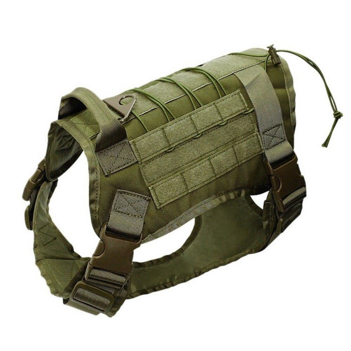 Adjustable Training Dog Vest with Handle Army Green / S