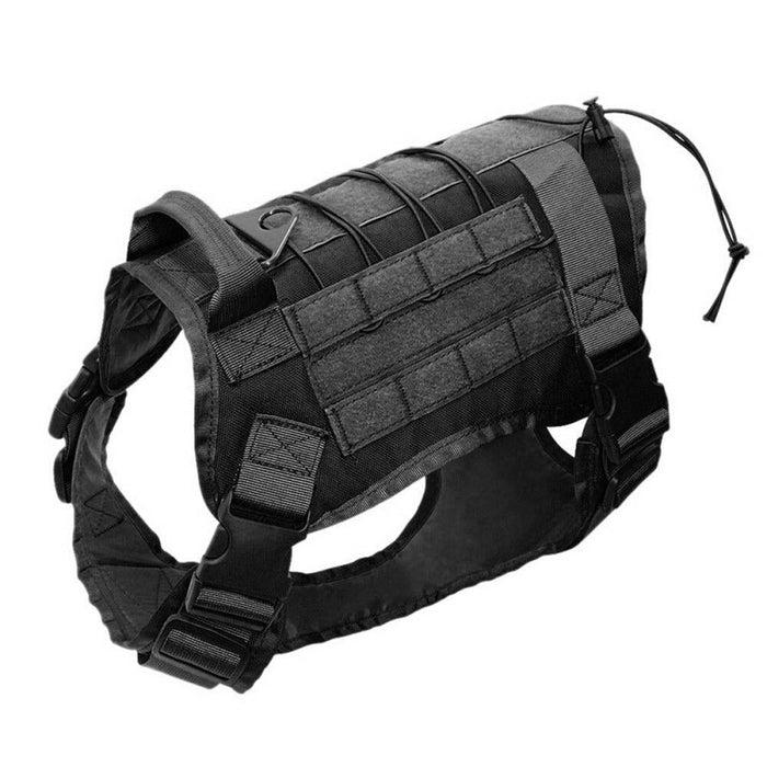 Adjustable Training Dog Vest with Handle Black / S