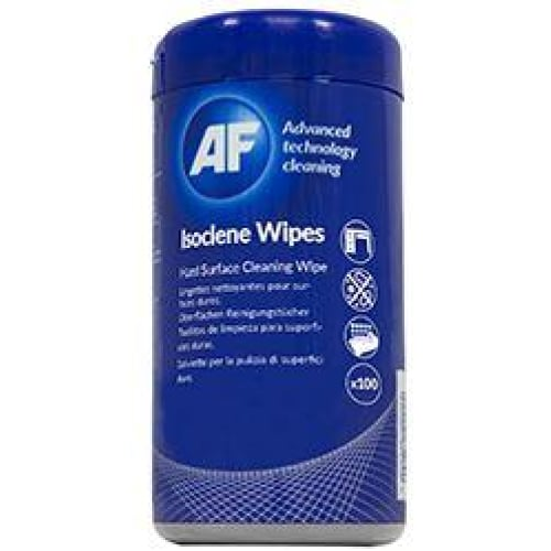 AF Isoclene Anti-Bacterial Office Wipes Tub - 100 Cleaning