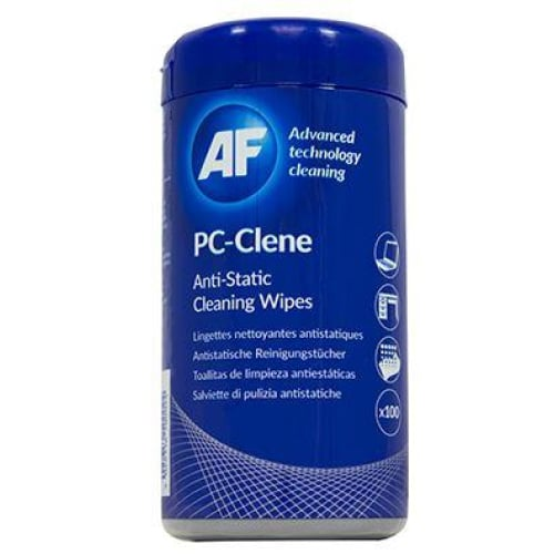 AF PC-Clene Anti-Static PC Wipes Tub - 100 Cleaning