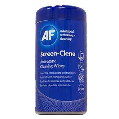 AF Screen-Clene Andti-Static Cleaning Wipes Tub - 100