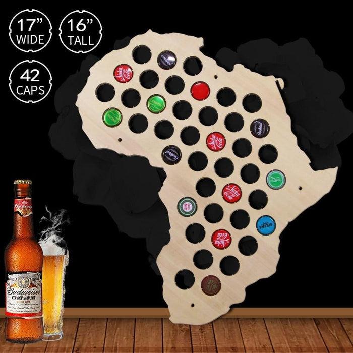 African Beer Cap Map - BEERMAP