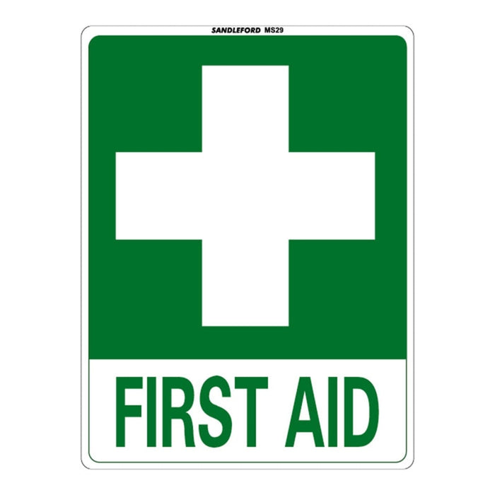 First Aid Plastic Sign goslash fast delivery fast delivery