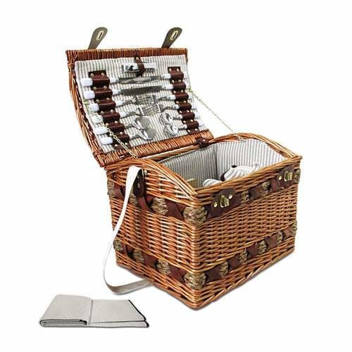 Alfresco 4 Person Picnic Basket Baskets Deluxe Outdoor