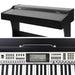 ALPHA 61-Key Electronic Digital Piano Keyboard Black goslash fast delivery fast delivery