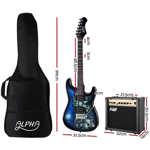 Alpha Electric Guitar and Amp Music String Instrument Rock