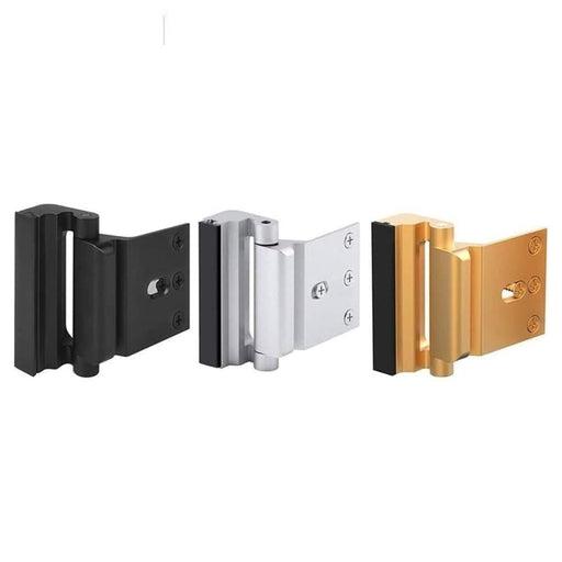 NAIERDI Aluminium Home Security Lock Door Reinforcement Lock Defender Security Door Stopper Door Lock Home Childproof Night Lock
