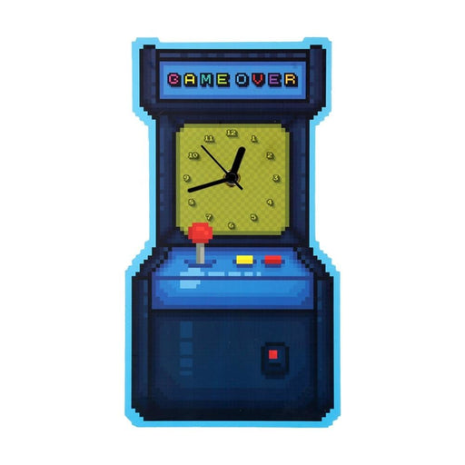 Vintage Arcade Game Machine Design Modern Wall Clock Game Over Fuuny Wall Watch Decorative Timepiece Game Room Decor Gamers Gift