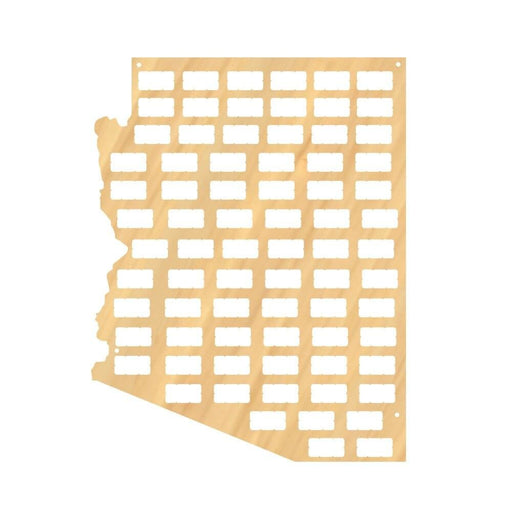 The Grand Canyon State Wine Cork Map Arizona Wine Corks Display Map DIY Winecork Projects Wall Art Gift for Wine Aficionado