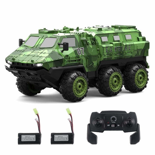 Eachine EAT07 1/16 2.4G 6WD Armored RC Car Full Proportional Control Vehicle Models Several Battery