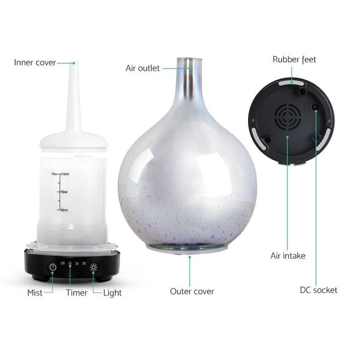 Aroma Diffuser 3d Led Light Oil Firework Air Humidifier