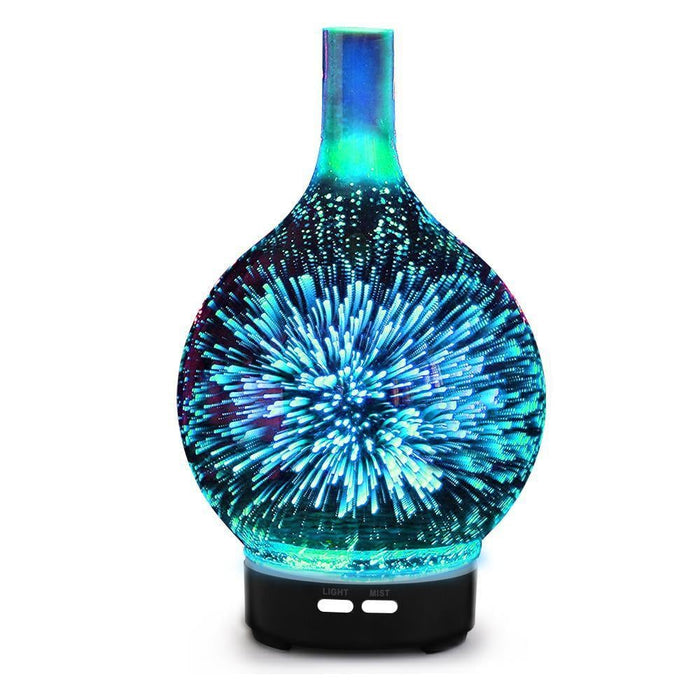 Aroma Diffuser 3D LED Light Oil Firework Air Humidifier 100ml goslash fast delivery fast delivery