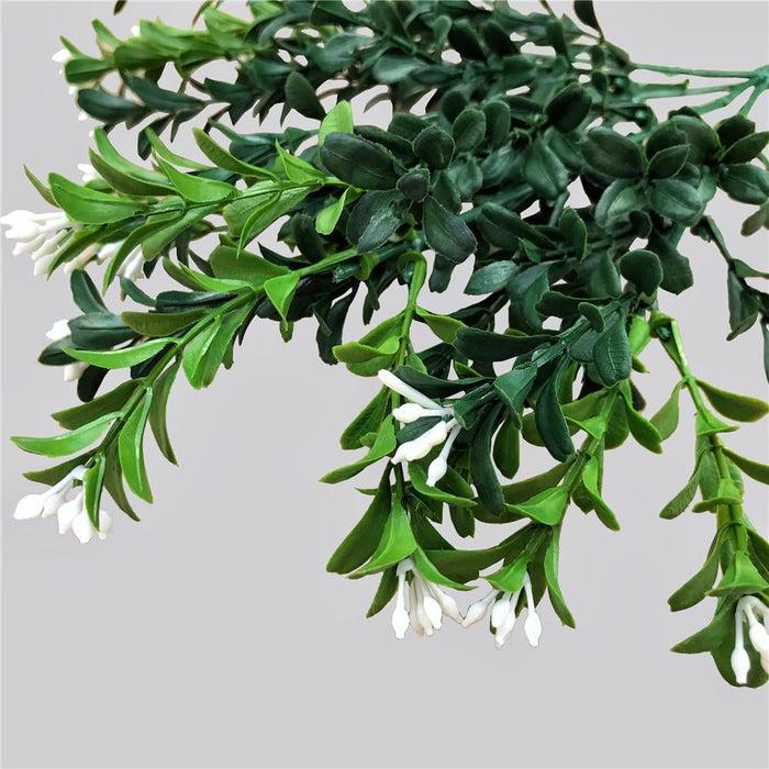 Artificial Flowering Boxwood Stem 30cm - Home & Garden >