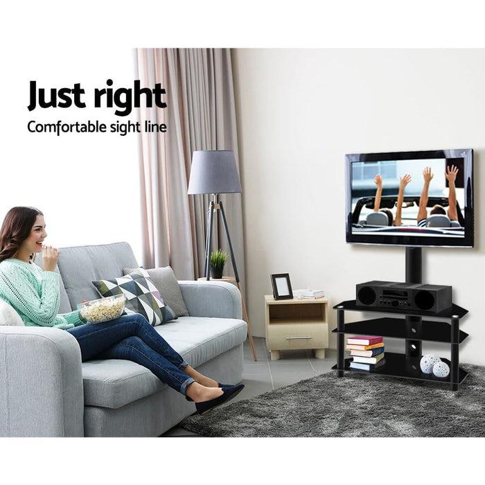 Artiss 3 Tier Floor Tv Stand with Bracket Shelf Mount -